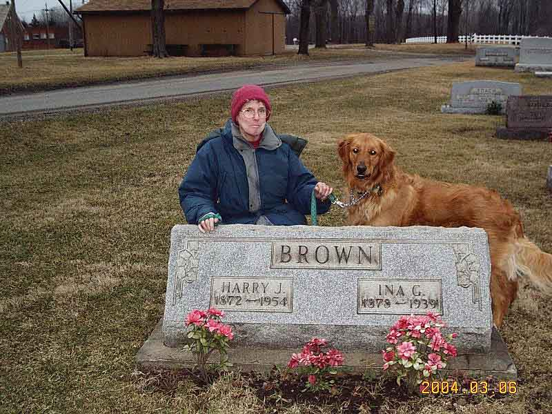 Bette Brown, Andy, Harry and Ina Brown Tombstone
