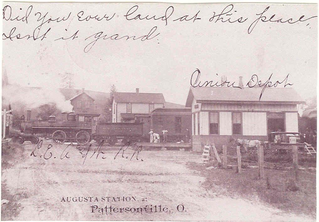 Augusta Railroad Station at Pattersonville, Ohio