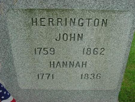 Tombstone of John and Hannah Herrington