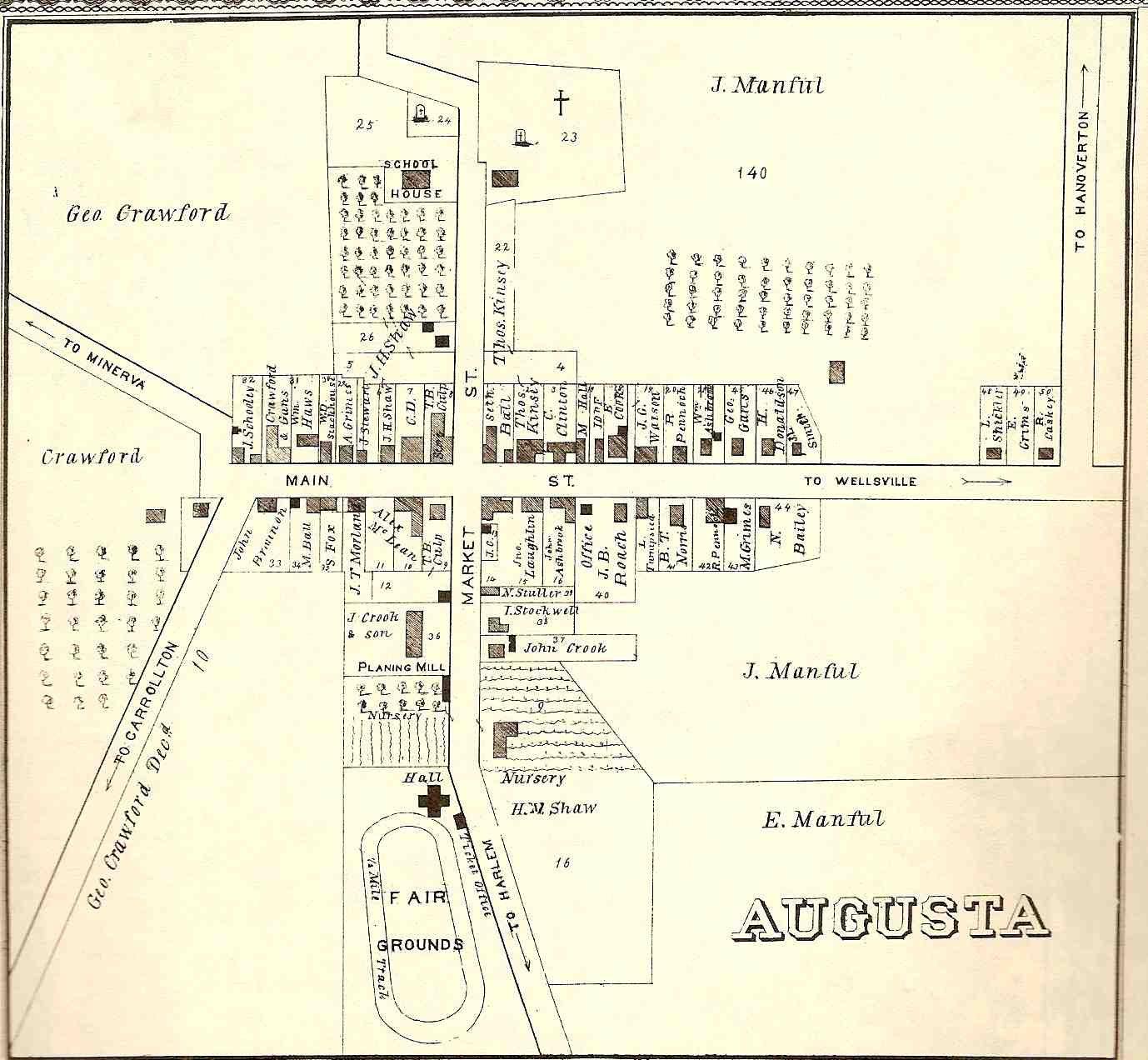 Village of Augusta - 1875