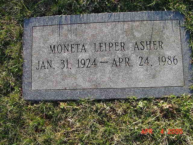 Moneta Leiper Asher