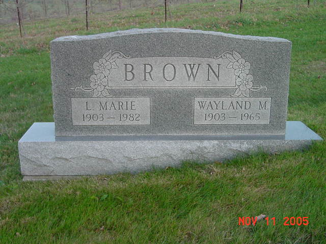 Wayland and Marie Brown