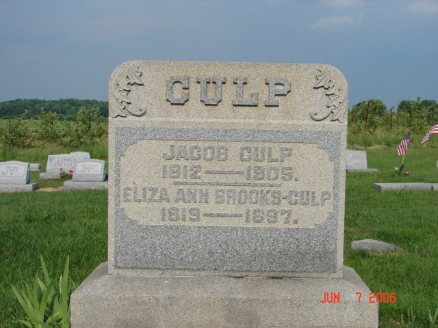 Jacob and Eliza Culp