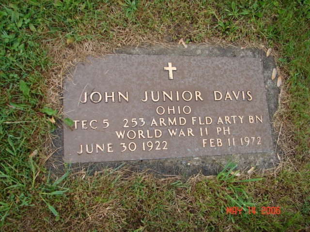 John J. Davis Military Marker