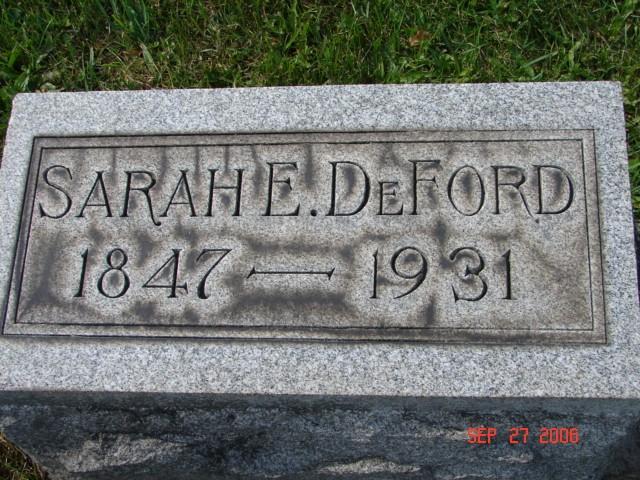Sarah Earp DeFord