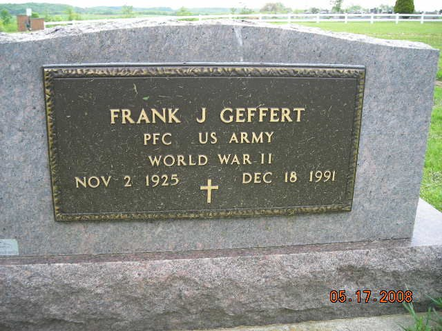 Frank Geffert Military Marker