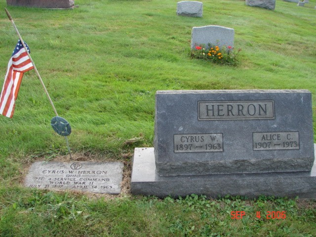 Cyrus and Alice Herron